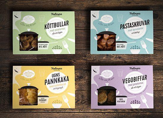förpackningsdesign färdigmat barn logotyp design förpackningsformgivning brandma designbyrå reklambyrå stockholm