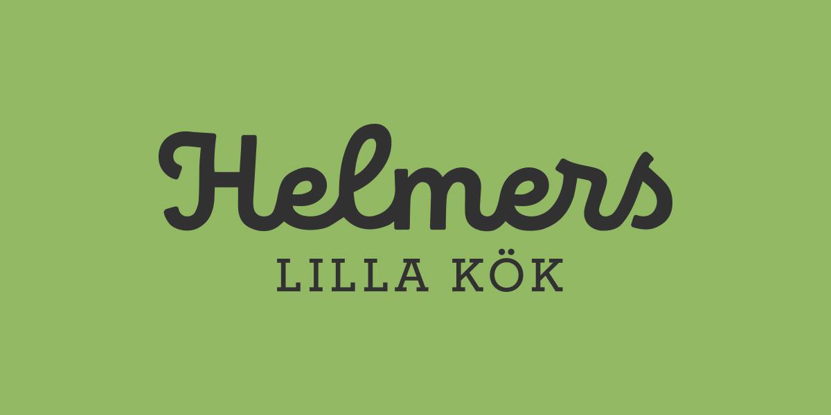 logotyp helmers lilla kök färdigmat barn fmcg brandma deisgnbyrå reklambyrå stockholm