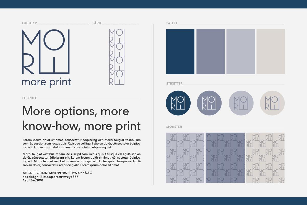 tryckeri logotyp grafisk profil identitet designbyrå reklambyrå stockholm grafisk formgivning design