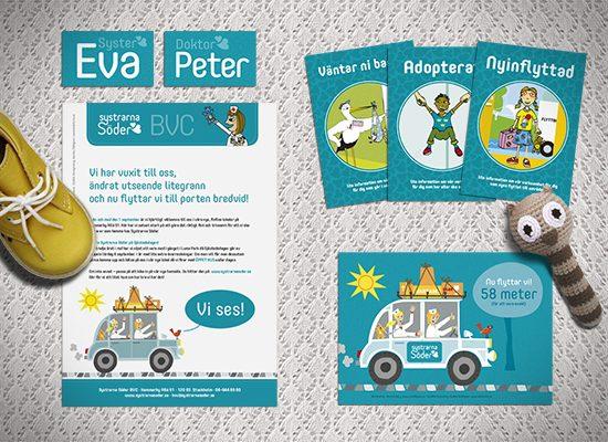 logotyp grafisk profil hemsida designbyrå reklambyrå stockholm brandma grafisk formgivning design barnavårdscentral vård kurser