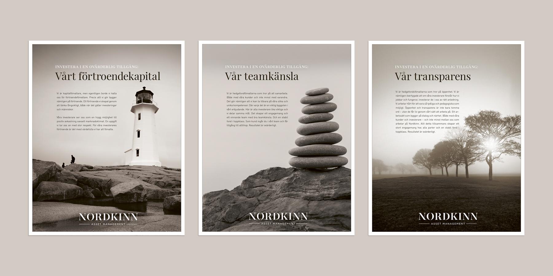 design formgivning logotyp symbol grafisk identitet profil nordkin fondförvaltare ekonomi Brandma designbyrå reklambyrå kommunikationsbyrå Stockholm
