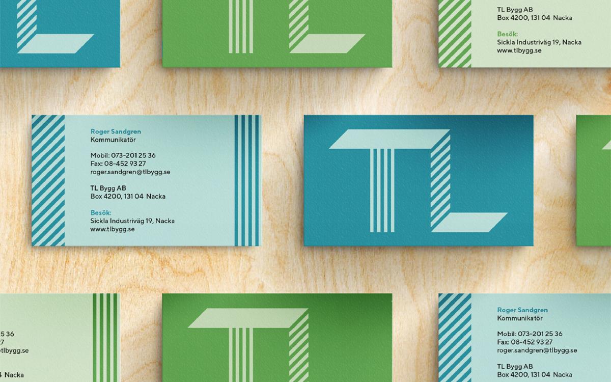 design formgivning logotyp symbol grafisk identitet profil TL bygg Brandma designbyrå reklambyrå kommunikationsbyrå Stockholm