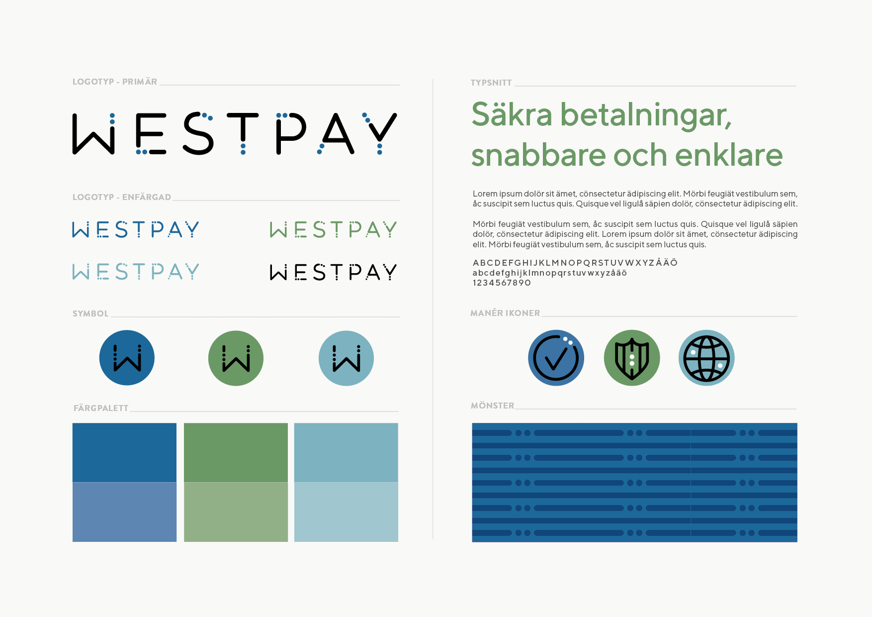 design formgivning logotyp symbol grafisk identitet profil Westpay Brandma designbyrå reklambyrå kommunikationsbyrå Stockholm